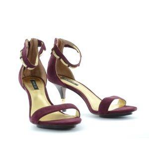 Rachel Zoe maroon Natalie heeled sandals, 7